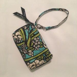 Vera Bradley wristlet in the pattern Island Blooms